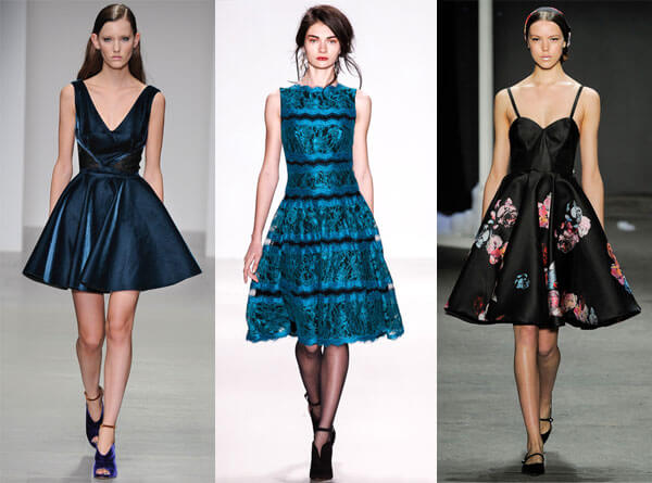 фасоны платьев для женщин за 40