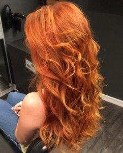 ржавый цвет волос дамам за 40