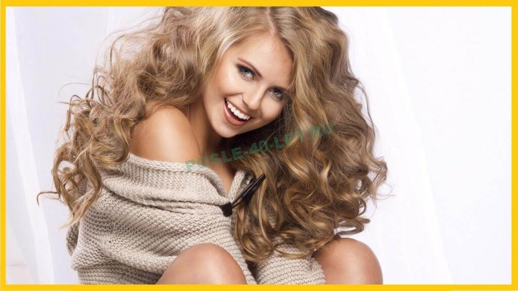 Гладкие корни с завитыми кончиками волос для девушек после 40 год
