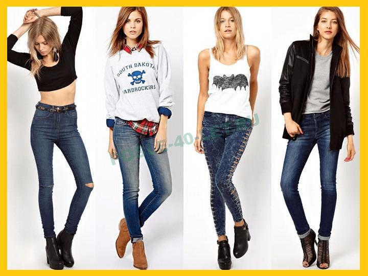 узкие джинсы в 40 лет