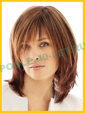стрижки на средние волосы после 40